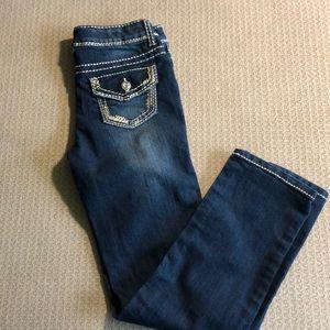 Girls skinny boot dark wash jeans